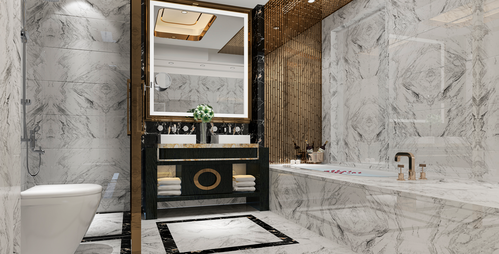 Luxury modern design bathroom