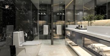 Modern-black-bathroom