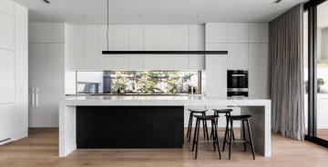 Modern kitchen wooden floor